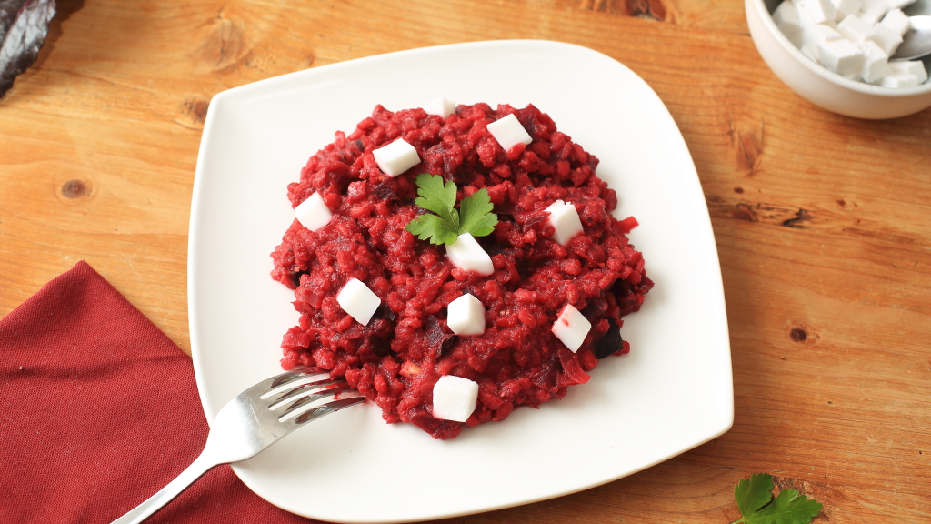 Cremiges Rote-Rüben-Orzotto