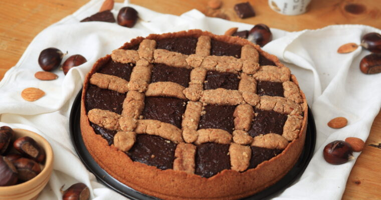 Italienische Crostata mit Kakao-Kastaniencreme